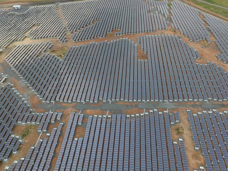 Ballasted mount solar landfill.