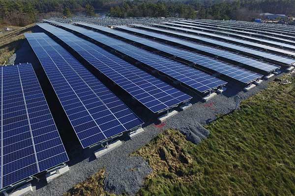 Solar landfill photo from Hudson MA