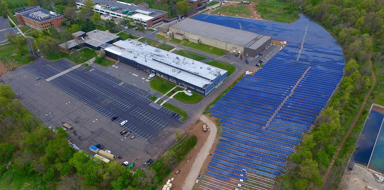 Solar installation photo in Bridgewater NJ.