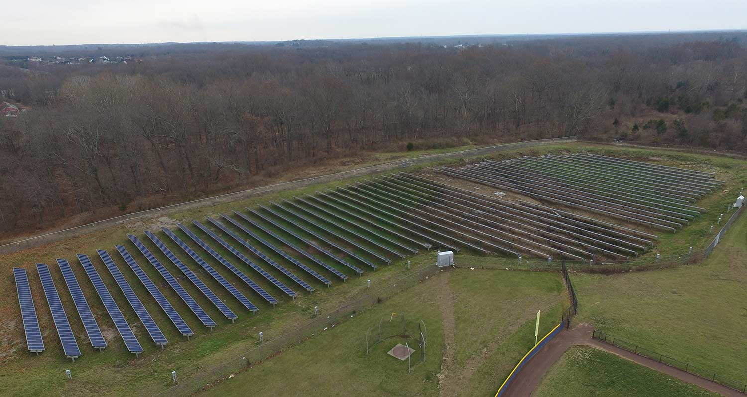 Solar installation on Plumsted township school.