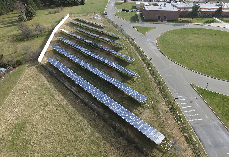 Solar ground mount photo from Flanders NJ.