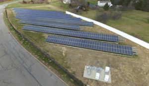 Photo of solar installation in Mt. Olive Township.