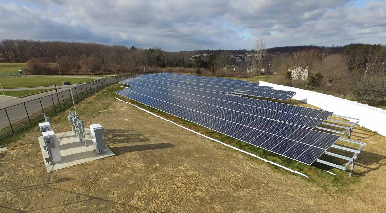 Tinc school solar array photo.