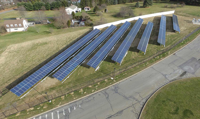 Tinc school solar ground mount photo.