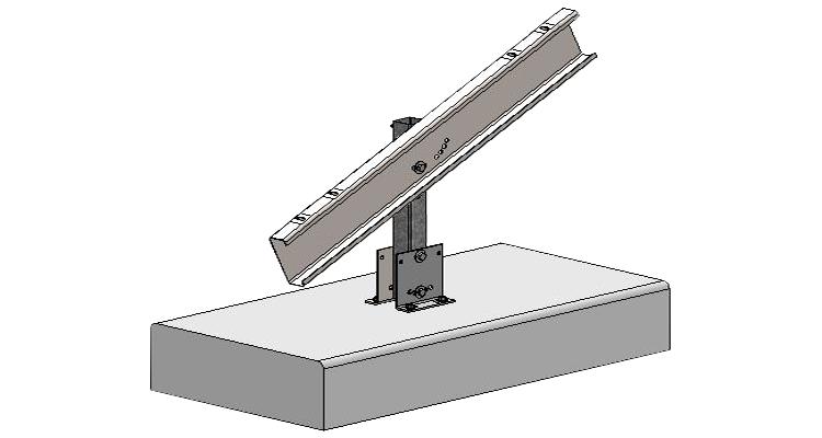 Ballast block foundation assembly image.