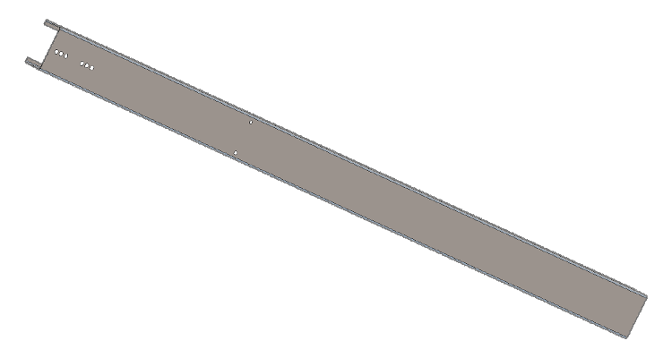 Image of 10' C-Channel post for solar ground mount.