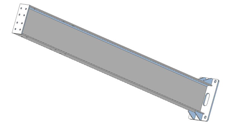 Post component of carport assembly